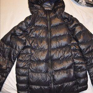 Black Ultra Light Down Puffer jacket by UNIQLO